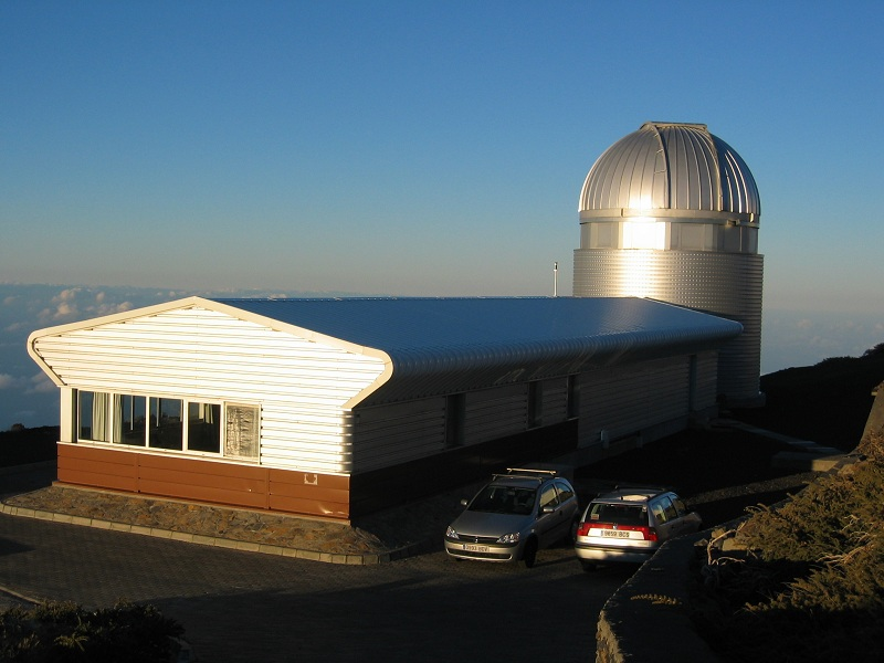 The dome of the Mercator telescope.